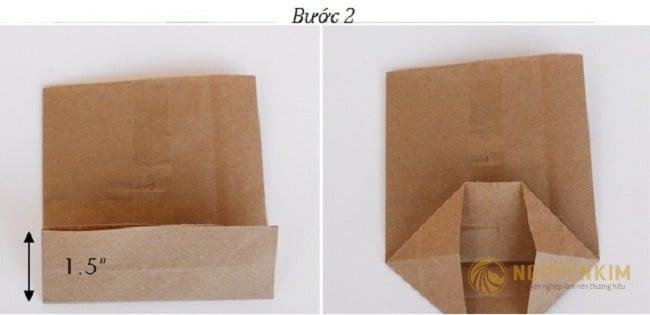 Cách làm túi giấy Kraft handmade bước 2