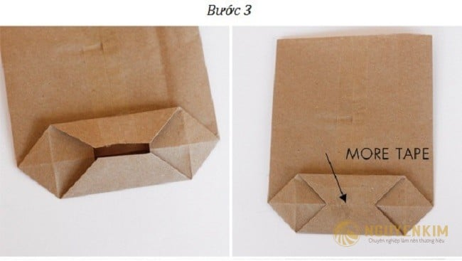 Cách làm túi giấy Kraft handmade bước 3