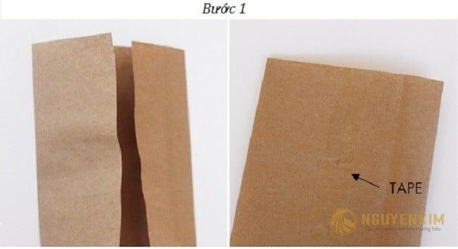 Cách làm túi giấy Kraft handmade