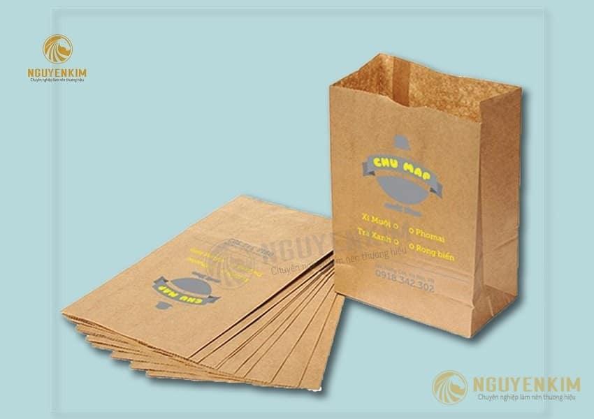 In túi giấy đựng bánh mì mẫu 1