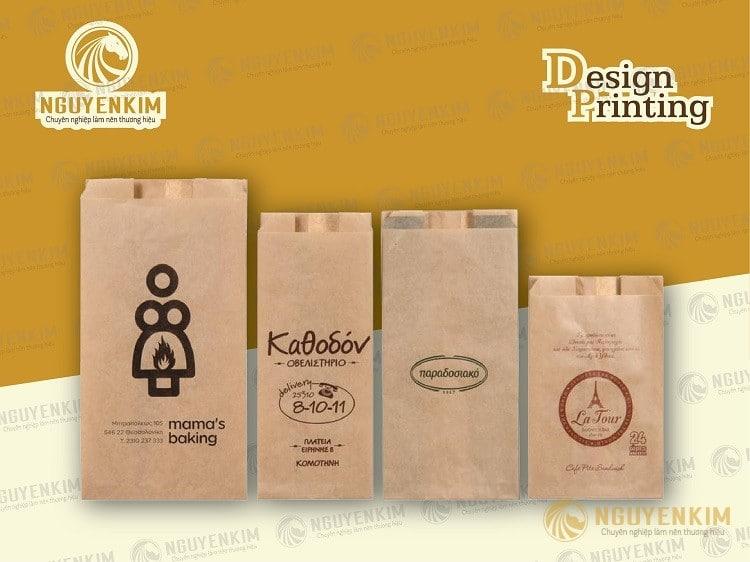 In túi giấy Kraft không quai mẫu 1