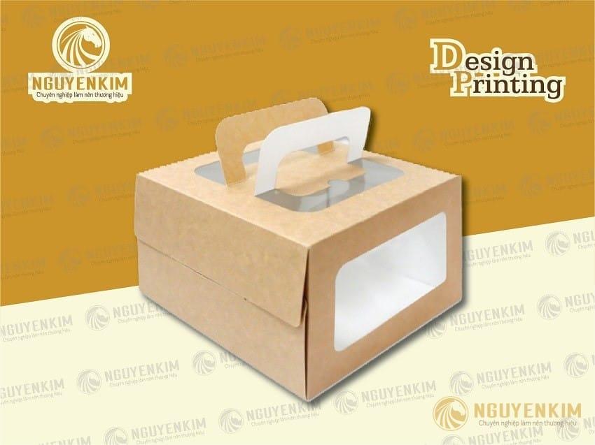 In hộp giấy đựng bánh kem mẫu 2