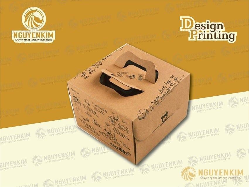 In hộp giấy đựng bánh sinh nhật mẫu 2