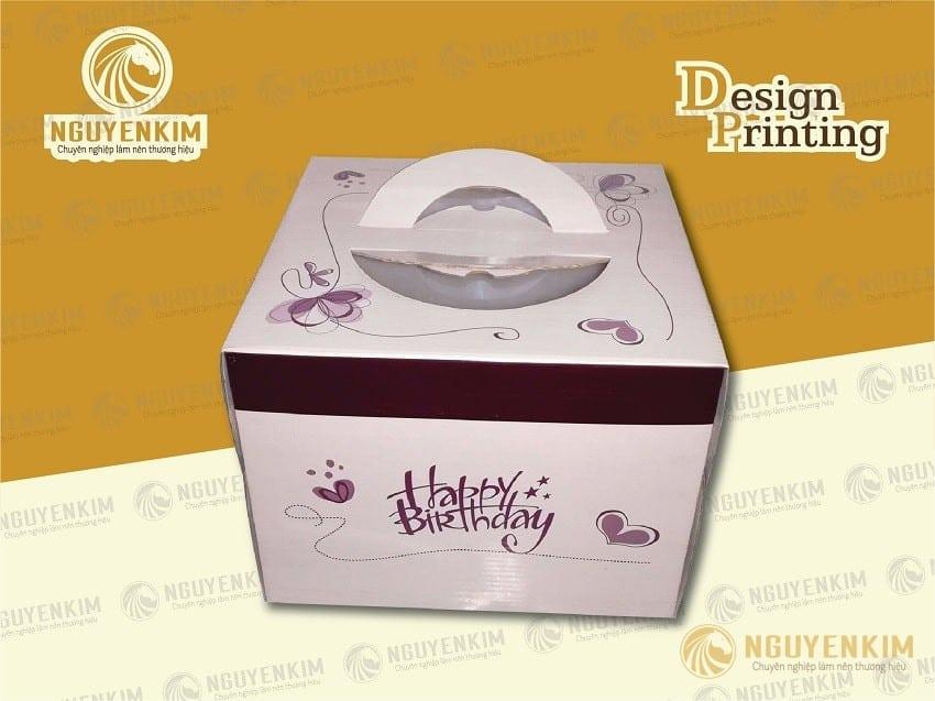 In hộp giấy đựng bánh sinh nhật