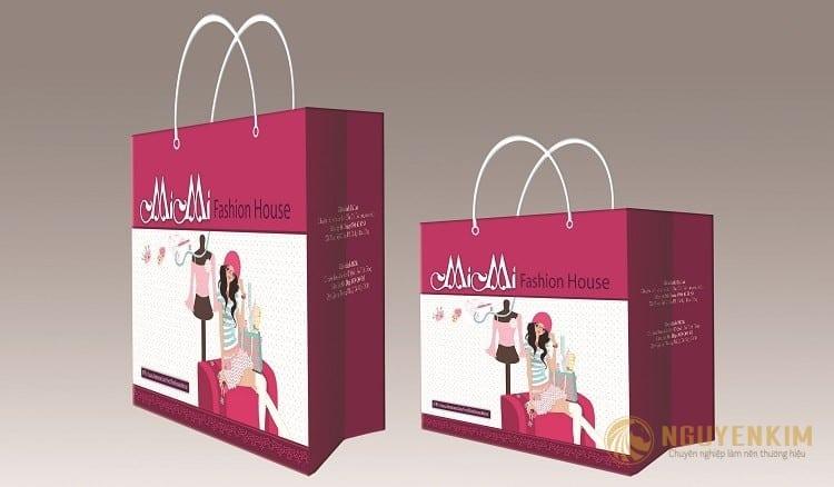 In túi giấy cho shop thời trang mẫu 1