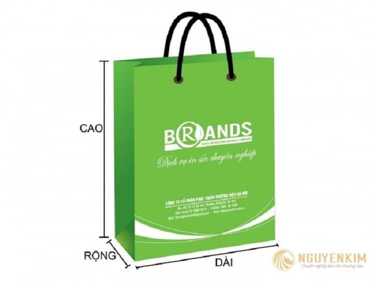In túi giấy cho shop thời trang mẫu 3