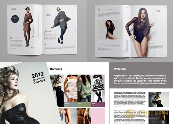 In catalogue thời trang mẫu 2