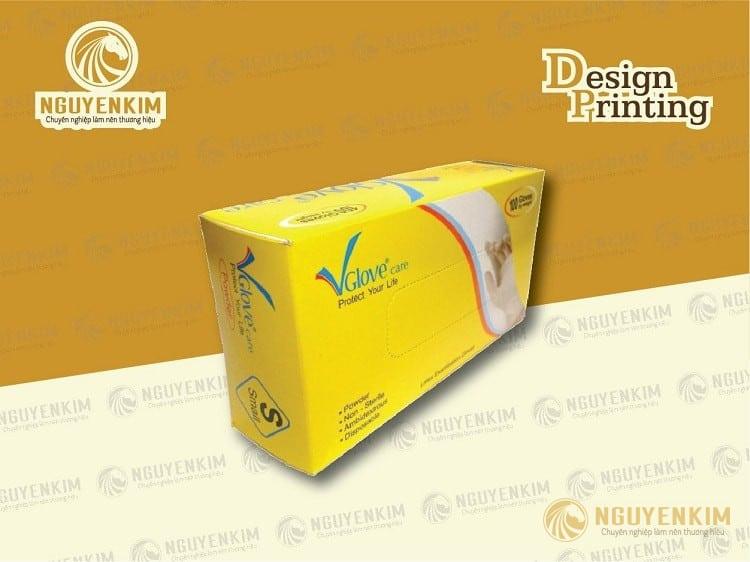 In vỏ hộp giấy đựng găng tay mẫu 2