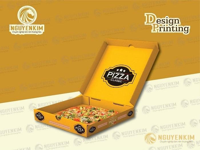 In hộp giấy đựng Pizza mẫu 1
