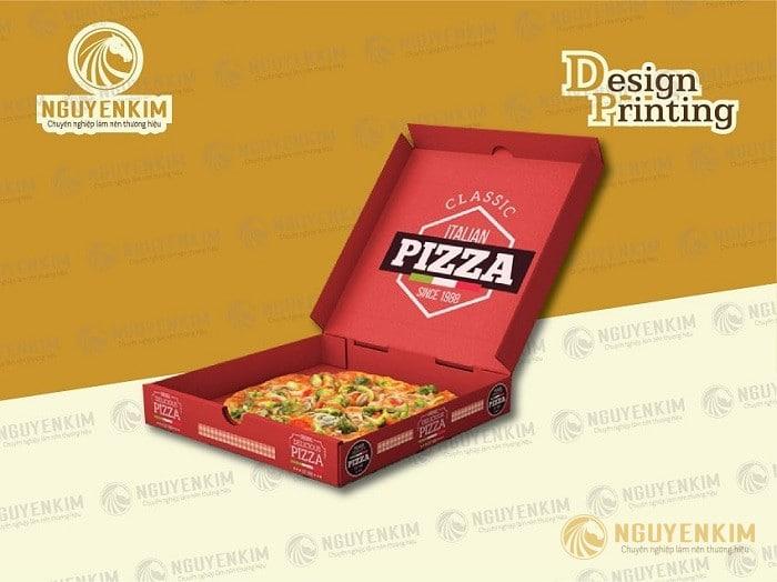 In hộp giấy đựng Pizza giá rẻ tại Hà Nội