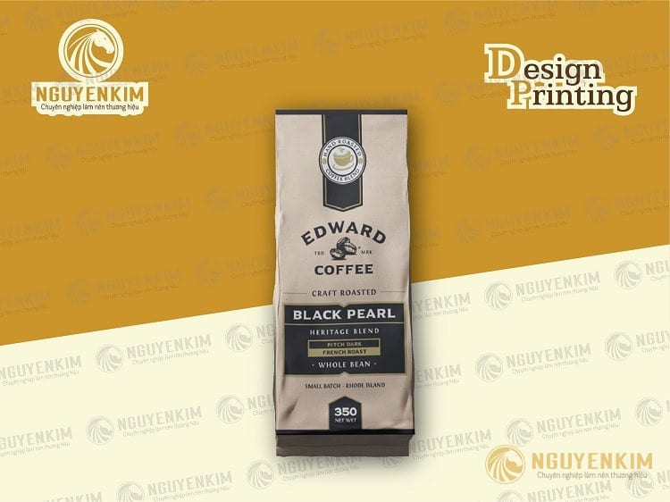 In túi giấy đựng cafe mẫu 4