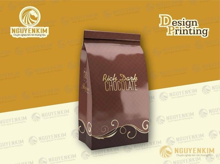 In túi giấy đựng cafe mẫu 6