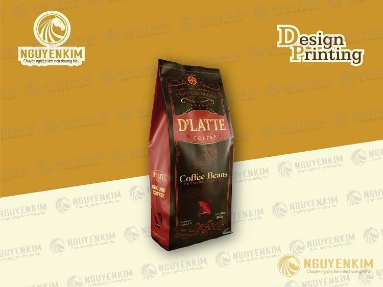 In túi giấy đựng cafe mẫu 7