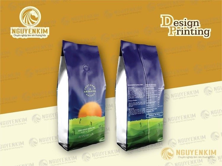 In túi giấy đựng cafe mẫu 9