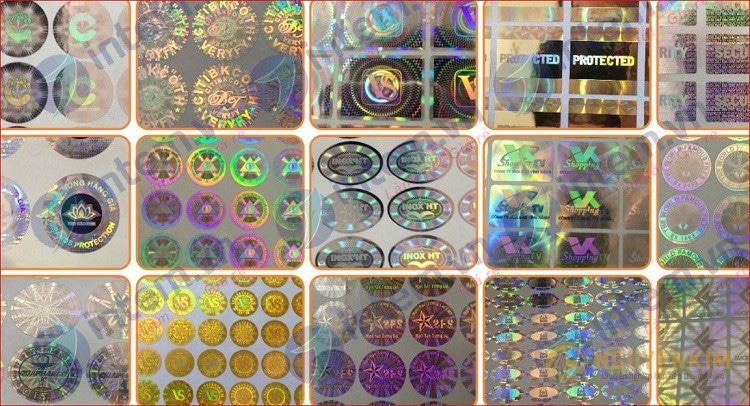 In tem 7 màu Hologram 1