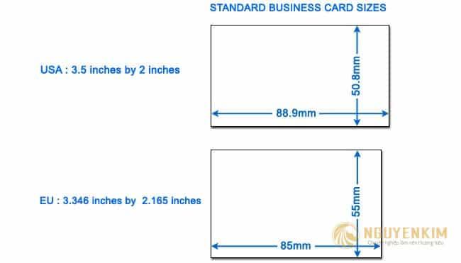Kích thước Card Visit