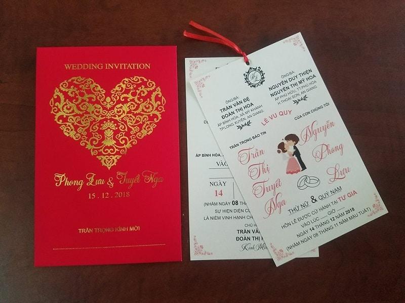In thiệp cưới đẹp - giá rẻ tại Hà Nội