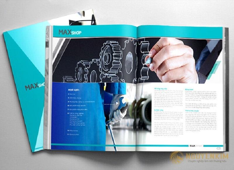 In và thiết kế catalogue xây lắp cơ khí
